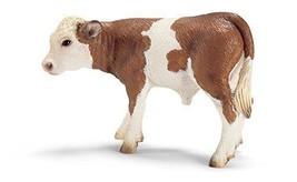 Schleich ,Simmental, calf ,by Schleich ,cow,hand painted, creative, toy,... - $12.39