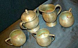 Quadruple Plated Silver Creamers & Sugar Bowls Vintage Empire Crafts AB 341 image 3