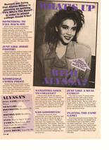 Alyssa Milano teen magazine pinup clipping what's up Teen Machine