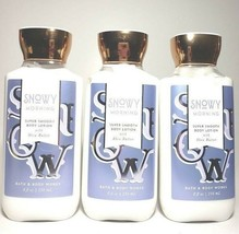 x3 bath and body works snowy morning lotions 8 oz - $22.00
