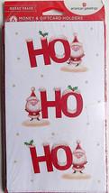 Glitter Santa Ho Ho Ho 6 Christmas Money Gift Card Holders & Envelopes - $3.99