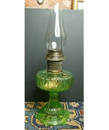 ANTIQUE NU-TYPE ALADDIN MODEL B VASELINE GLASS HURRICANE LAMP Cathedral ... - $113.62