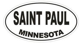 Saint Paul Minnesota Oval Bumper Sticker or Helmet Sticker D1672 Euro Oval - $1.39+