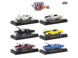 Detroit Muscle 6 Cars Set Release 41 IN DISPLAY CASES 1/64 Diecast Model Cars by - $55.42