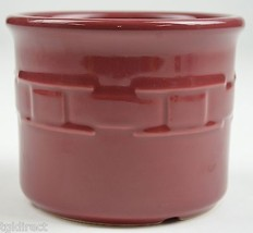 """Longaberger Pottery Woven Traditions Paprika Pattern 1 Pint Crock 3.5"""" Tall - $19.99"""
