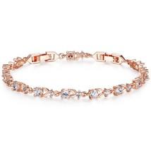 BAMOER 6 Colors  Rose Gold Color Chain Link Bracelet for Women Ladies Sh... - $14.27