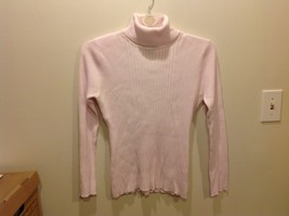 It's Our Time Pastel Pink Textured Turtleneck Pullover Sweater Sz XL
