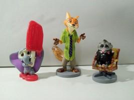 Nwob Lot Of 3 Disney Store Zootopia Pvc Figures Nick Wilde, Finnick & Mr Big - $13.67