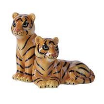 Bengal Tiger and Tigress Safari Magnetic Salt and Pepper Shaker Set - $12.86