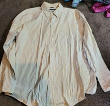 NAUTICA Mens XL 80's 2 Ply Cotton Long Sleeve Button Down - $19.75