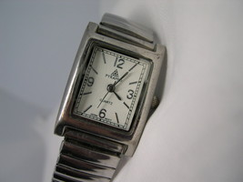 L40, PYRAMID, Ladies White Faced Watch, Rectangular with Flex Band, wb - $19.99
