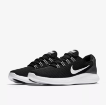 Nike Lunar Converge Sneakers Black White Running Lightweight Trainers Un... - $68.80