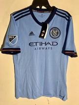Adidas Youth MLS Jersey New York City FC Team Light Blue sz XS - $12.86