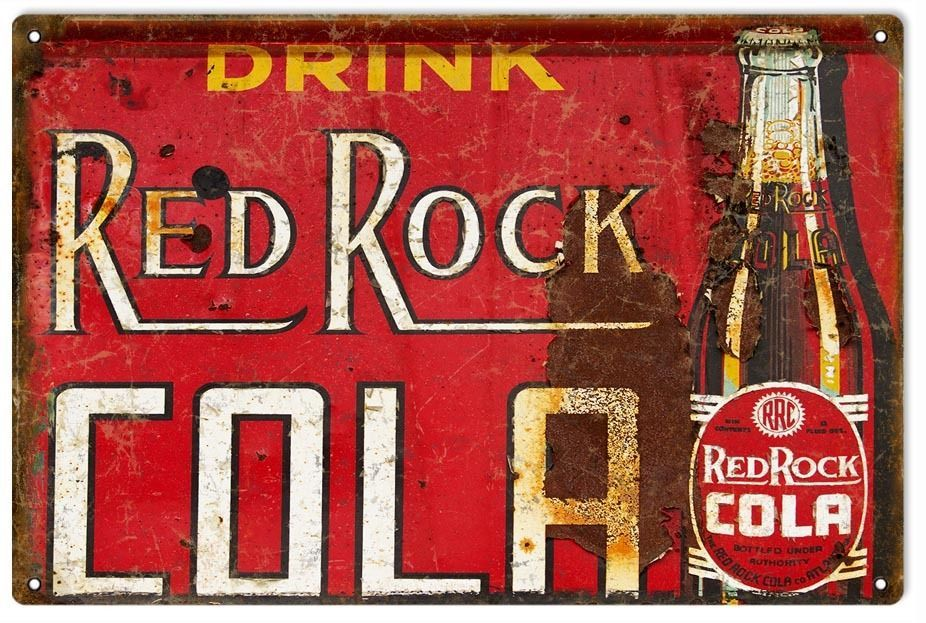 Primary image for Reproduction Nostalgic Drink Red Rock Cola Advertisement Sign