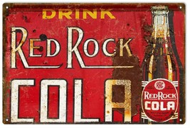 Reproduction Nostalgic Drink Red Rock Cola Advertisement Sign - $25.74