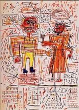 "Jean Michel Basquiat Print on Canvas Self Portrait HUGE Abstract 16x28"" - $29.70"