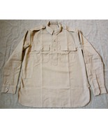 WWI US ARMY DOUGH BOY INFANTRY M1917 OFFICER FLANNEL FIELD SHIRT-3XLARGE - $98.13