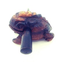 Handmade Wooden Frog Musical Instrument Croaking Percussion Clacker Folk... - $19.30