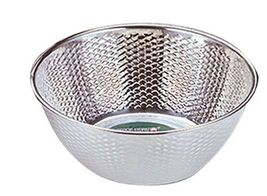 "Kitchen Flower Stainless Steel Embossing Rice Washing Bowl Basket Basin (11.8"") image 4"
