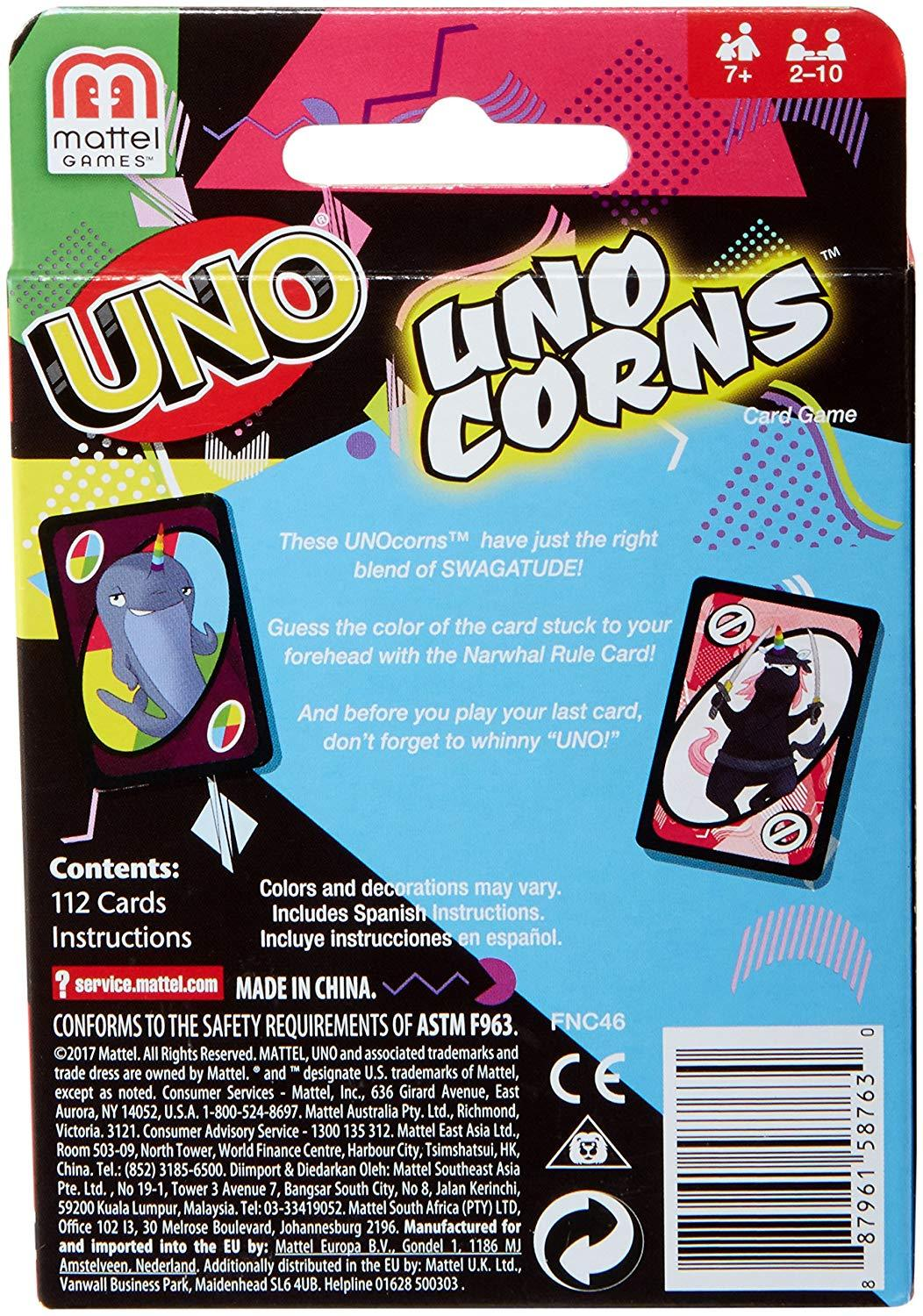 Mattel UNO Unocorns Card Game- NIB- FREE SHIPPING