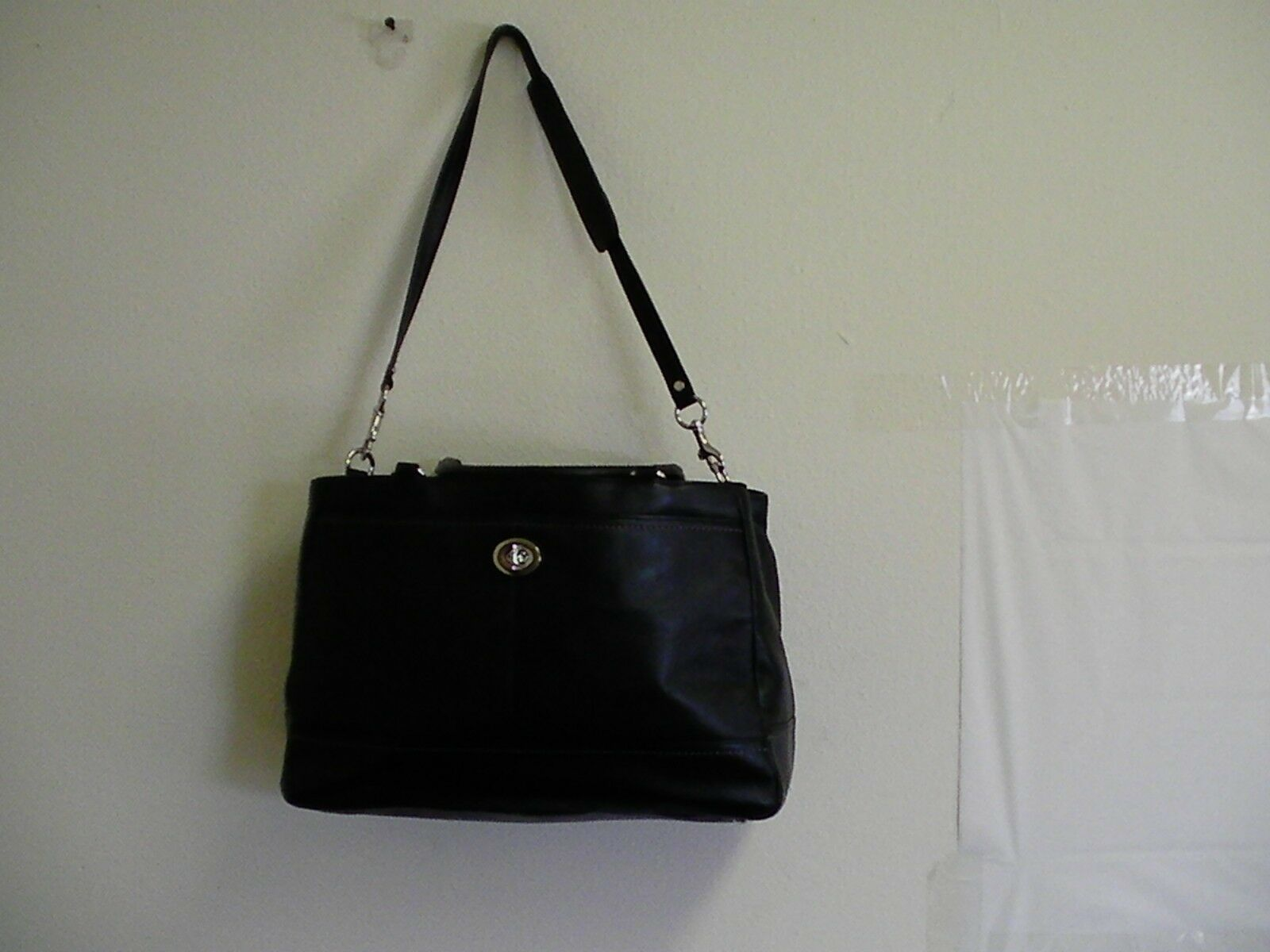 Primary image for NWT coach handbag PARK LEATHER BLACK Silver LARGE CARRYALL ~ F23268