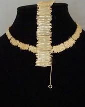 Vintage Hobe Gold-Tone Costume Jewelry Demi-Parure Set Necklace, Bracele... - $249.11