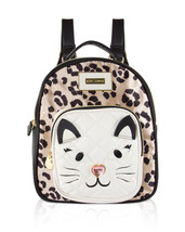 NWT Betsey Johnson Cheetah Kitsch Kitty Backpack - $38.99