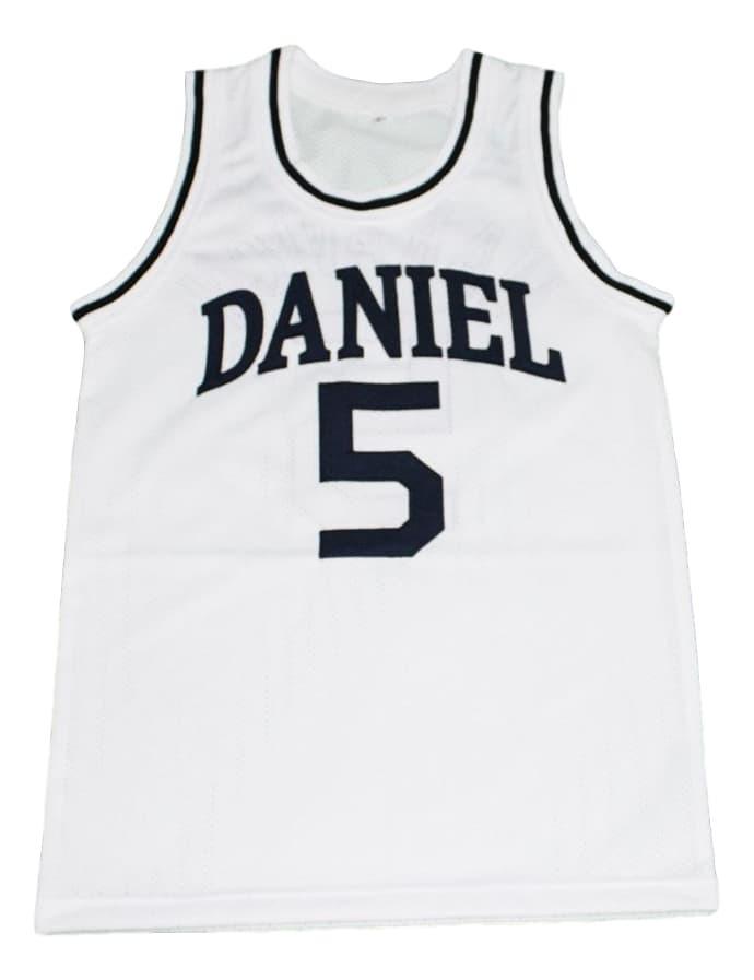 Pete Maravich #5 Daniel High School New Men Basketball Jersey White Any Size