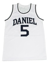 Pete Maravich #5 Daniel High School New Men Basketball Jersey White Any Size image 1