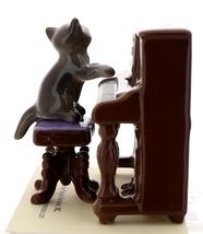 Hagen-Renaker Miniature Ceramic Figurine Keyboard Cat on Bench Playing Piano image 2