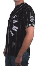 Hall Of Fame Black House Wool Blend Knit Button Up Baseball Jersey Shirt image 3
