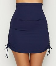 ANNE COLE SIGNATURE Navy High -Waist Skirted Bikini Swim Top, US XSmall - $33.66