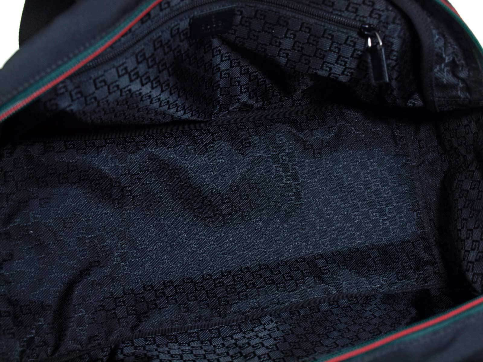 GUCCI Nylon Canvas Black Boston Bag GB1655