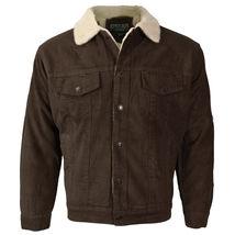 Men's Premium Classic Button Up Fur Lined Corduroy Sherpa Trucker Jacket image 5