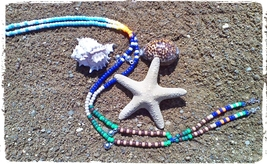 ISLAND PARADISE ~ HORSE RHYTHM BEADS ~ Horse Size / Approx. 54 Inches - $23.00