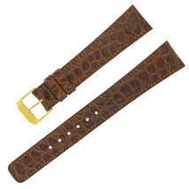 Movado 18-14mm Dark Brown Calf Leather Ladies Watch Strap with Tang Buckle - $89.00