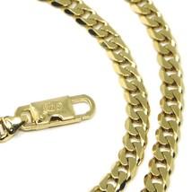 "MASSIVE 18K GOLD BRACELET GOURMETTE CUBAN CURB FLAT 5.5 MM LINK, 21cm 8.3"" ITALY image 1"