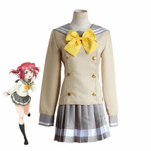 Love live! sunshine Aq ours Salior outfit School Uniform Costume Cosplay - $43.99