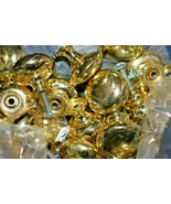 "Polished Brass Cabinet Door Knobs Handles with Screw 1 1/2"" SOME SCUFFING - $4.49"