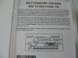 Micro-Trains Stock #00310024  (1002-10) Bettendorf Trucks Long Extended Couplers image 3