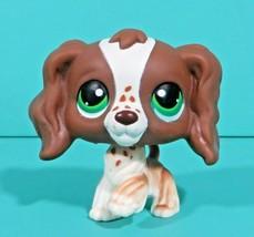 Littlest Pet Shop Puppy Dog Cocker Spaniel Brown White Green Eyes 156 Au... - $356,95 MXN
