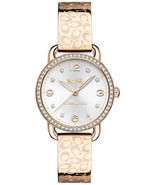 BRAND NEW COACH 14502696 DELANCEY CARNATION GOLD-TONE GLITZ BANGLE WOMEN'S WATCH - $168.29