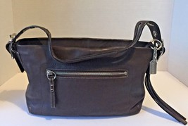 Women's Coach 1417 Legacy Dark Brown Leather Tassel Small Shoulder Bag B#25 - $39.59
