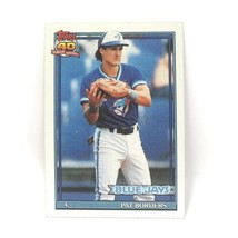 1991 Topps Baseball Card #49 - Pat Borders - Toronto Blue Jays - C - $0.99