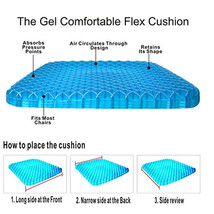 Gel Cushion Honeycomb Seat & Non-Slip Cover - Design Sitter Helps Pressure Point image 3