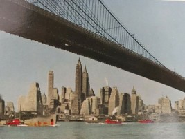 VTG Old United Airlines Postcard Advertisement View of Manhattan Brookly... - $24.45