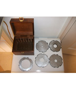 5 DISCS IN WOODEN BOX SANDER SAW TOOL WHAT IS THIS? THINGAMAjIG WHATCHAM... - $29.99