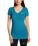 Nike Training Shirt Tops Lagoon Blue Pro Fitted Short-Sleeve 589370-407 ... - $39.00