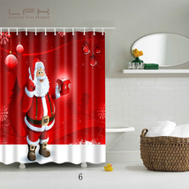 Natal Merry Christmas 117 Shower Curtain Waterproof Polyester Fabric For Bathroo - $33.30+