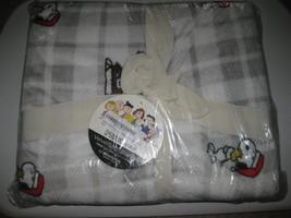 NWT Berkshire Peanuts Snoopy Woodstock Christmas Velvetsoft Blanket Twin 60x90  - $49.49